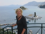 Poseren voor Muizeneiland, Korfoe, Griekenland