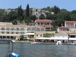 Kassiopi, uitzicht op het kasteel, Griekenland