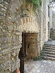 De toegangspoort tot het Kassiopi kasteel, Griekenland