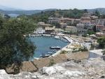 Kassiopi vanaf het kasteel, Griekenland