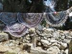 Zelfgemaakte kleden, Kassiopi, Griekenland