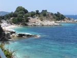 De kust bij Kassiopi, Griekenland
