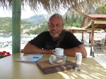 Bij het Liapades strand, Gefyra, Griekenland