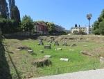 Restanten van een tempeltje in Paleopolis, Kanoni, Griekenland