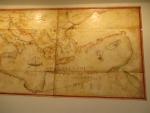 Oude kaart in Mon Repos, Kerkyra, Griekenland