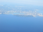 Korfoe vanuit de lucht, Griekenland