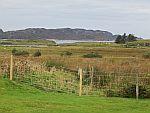 Uitzicht vanaf ons huis op Mull, Schotland