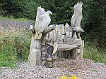 Houtsnijkunst bij de Mull Eagle Watch, Schotland