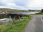 De haven van Croig in het noorden van Mull, Schotland