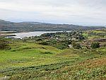 Uitzicht op het dorpje Dervaig, Mull, Schotland