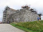 Het Duart kasteel in het oosten van Mull, Schotland