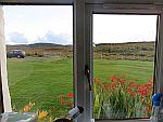Uitzicht vanuit onze keuken, Salachran, Schotland