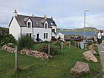 Huisje bij de veerpont naar Iona, Schotland