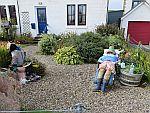 Poppen in de tuin, Fionnphort, Schotland