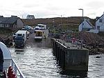 De ferryterminal in Fionnphort, Schotland