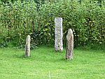 Standing stones op Iona, Schotland