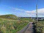 De weg dwars over Iona, Schotland