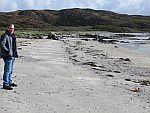 Op het strand van Uisken baai, Schotland