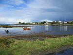 De baai bij Bunessan op Mull, Schotland