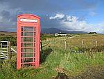 De telefooncel voor ons huisje, Salachran op Mull, Schotland