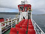 De ferry van Fishnish naar Lochaline, Schotland