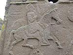 Detail op een Pictische steen uit de 8e eeuw, Aberlemno, Schotland