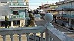 Uitzicht vanaf ons balkon in Paralia Dionisiou, Griekenland