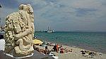 Langs het strand van Nea Moudania, Griekenland