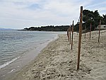 Paliouri strand bij Chrouso, Kassandra, Griekenland
