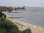 De kust bij Nea Roda, Athos, Griekenland
