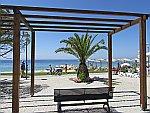 De kust bij Nikiti op Sithonia, Griekenland