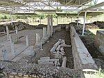 Opgraving van de Sofronios basiliek, Nikiti, Griekenland