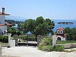 Uitzicht bij Nikiti op Sithonia, Griekenland