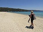Een uurtje naar het strand in de buurt van Nikiti, Griekenland