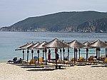 De baai bij Koufos, Sithonia, Griekenland