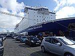 De ferryboot van IJmuiden naar Newcastle, Schotland