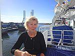 Op de ferry in IJmuiden, Schotland
