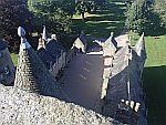 Vanaf het dak van kasteel Fraser, Schotland