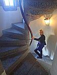 Een wenteltrap in kasteel Fraser, Schotland