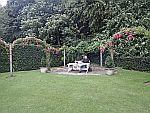 In de tuin van Ballindalloch kasteel, Schotland