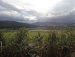 Uitzicht op de Cairngorm Mountains vanaf Drummuir, Schotland