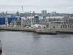 Uitzicht op Aberdeen vanuit de haven, Schotland