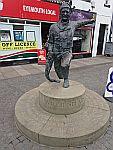 Willie Spears beeld in Eyemouth, Schotland