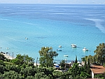 De zee bij Afytos, Kassandra, Griekenland