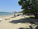 Het strand bij Stavros, Griekenland