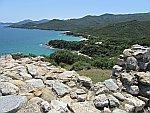 Uitzicht vanaf de heuvel van Stageira, Griekenland