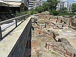 Opgravingen in het centrum van Thessaloniki, Griekenland
