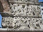 Detail op de Boog van Galerius, Thessaloniki, Griekenland