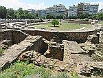 De oude markt of agora, Thessaloniki, Griekenland
