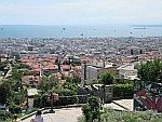 Uitzicht vanaf het Heptapyrgion fort in Thessaloniki, Griekenland